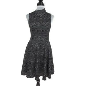 Altar'd State Black Lace Look Fit & Flare Dress